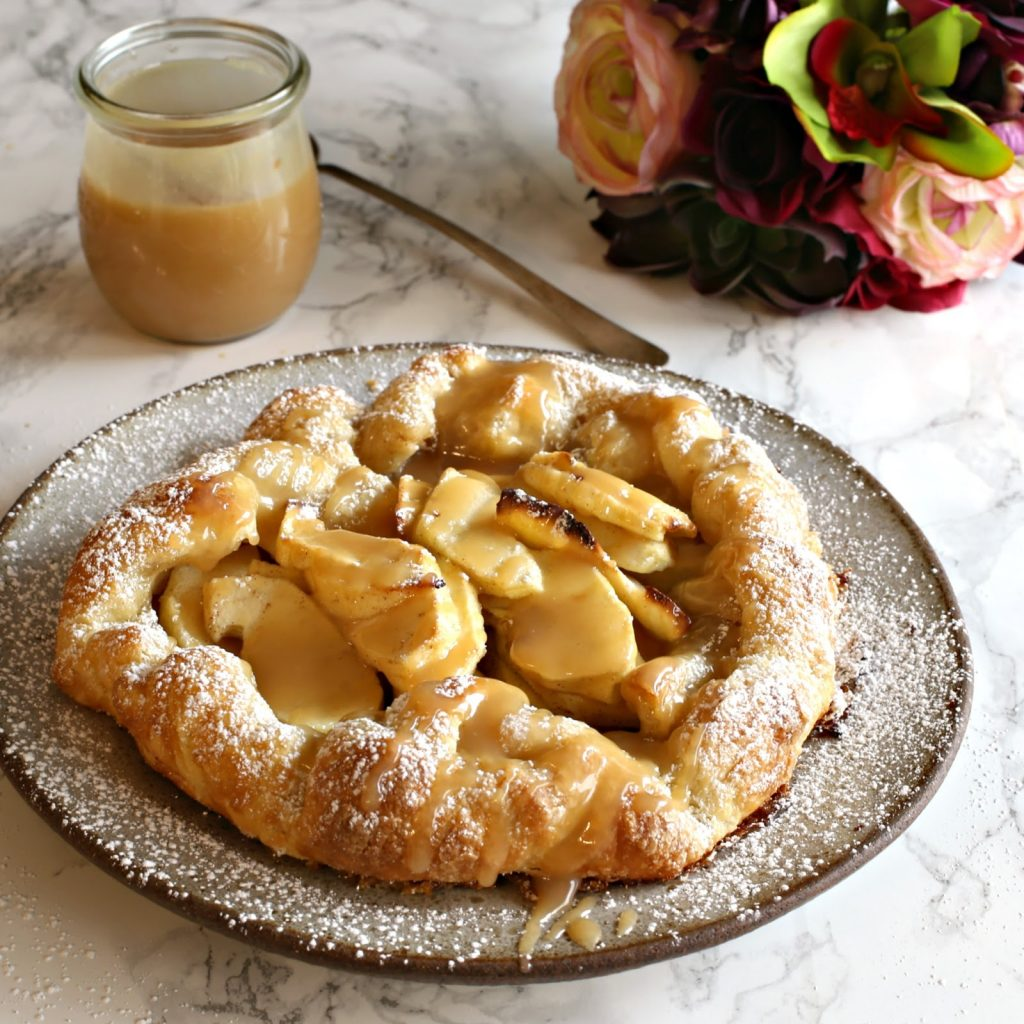 Ziyad brand Recipe Apple Puff Tart with Tahini Caramel